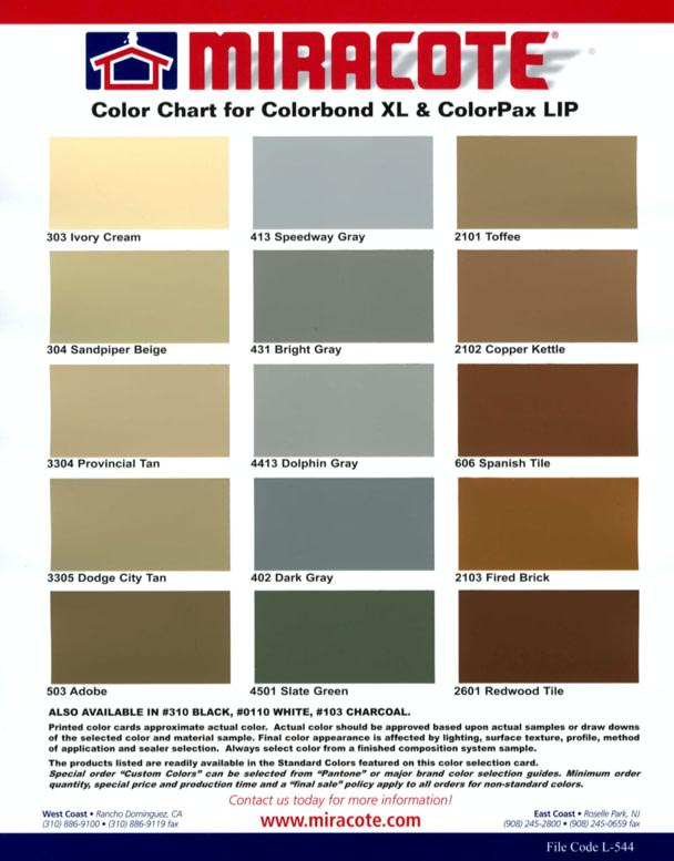 ColorPaxLIP-ColorChart